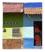 Houses On Street In Leon, Nicaragua Fleece Blanket