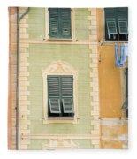 Houses, Portofino, Italy Fleece Blanket