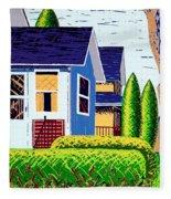 Houses Remastered Fleece Blanket