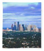 Houston 1980s Fleece Blanket