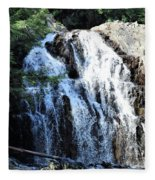 Houston Brook Falls Panorama Fleece Blanket