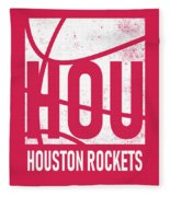 Houston Rockets City Poster Art Fleece Blanket