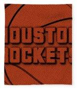 Houston Rockets Leather Art Fleece Blanket