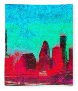 Houston Skyline 44 - Pa Fleece Blanket