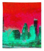 Houston Skyline 47 - Pa Fleece Blanket