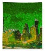 Houston Skyline 49 - Pa Fleece Blanket