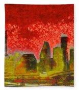 Houston Skyline 50 - Pa Fleece Blanket