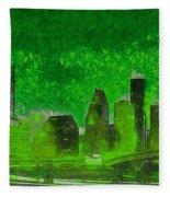 Houston Skyline 51 - Pa Fleece Blanket