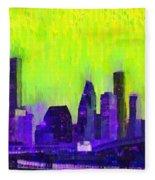 Houston Skyline 84 - Pa Fleece Blanket