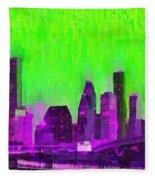 Houston Skyline 85 - Pa Fleece Blanket
