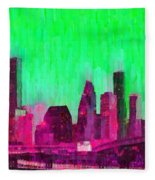 Houston Skyline 86 - Pa Fleece Blanket