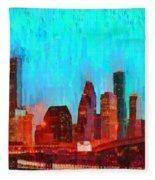 Houston Skyline 87 - Pa Fleece Blanket