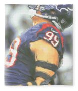 Houston Texans Jj Watt 3 Fleece Blanket