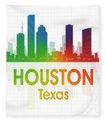 Houston Tx Fleece Blanket