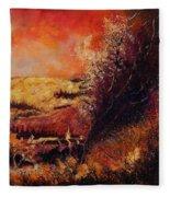Houyet In Fall Fleece Blanket