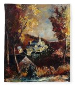 Houyet Village Belgium Fleece Blanket
