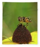 Hoverfly On Brown Eyed Susan Fleece Blanket