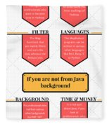 How Much Java Knowledge Is Required To Learn Hadoop? Fleece Blanket