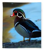 How Much Wood Could A Wood Duck Chuck Fleece Blanket