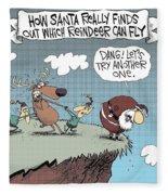 How Reindeer Fly Fleece Blanket