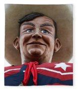 Howdy Folks - Big Tex Portrait 02 Fleece Blanket
