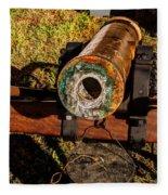 Howitzer Battle Of Honey Springs Fleece Blanket