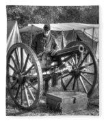 Howitzer Battle Of Honey Springs V4 Fleece Blanket