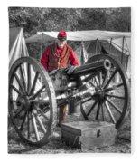 Howitzer Battle Of Honey Springs V5 Fleece Blanket