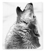 Howling Timber Wolf Fleece Blanket