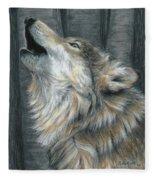 Howling Wolf Fleece Blanket