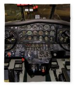 Hu-16b Albatross Cockpit Fleece Blanket