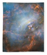 Hubble Captures The Beating Heart Of The Crab Nebula Fleece Blanket