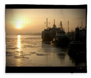 Huddled Boats Fleece Blanket