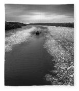Hudson River In Winter Fleece Blanket