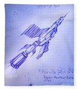 Huge Space Shuttle. In Antiworld Fleece Blanket