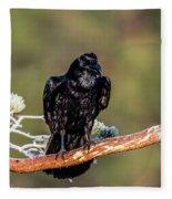Huginn The Raven Fleece Blanket