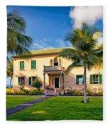 Hulihe'e Palace, Kona, Big Island Hawaii Fleece Blanket