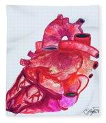 Human Heart Pa Fleece Blanket