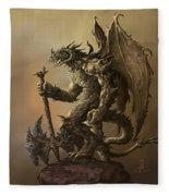 Humanoid Dragon Fleece Blanket