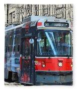 Humber Bound Streetcar On Queen Street Fleece Blanket