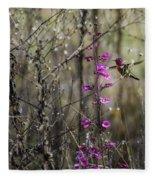 Humming Bird In Nature Fleece Blanket