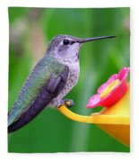 Hummingbird 32 Fleece Blanket