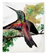 Hummingbird 5 Fleece Blanket
