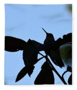 Hummingbird At Sunrise Silhouette Fleece Blanket
