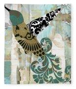 Hummingbird Batik Fleece Blanket