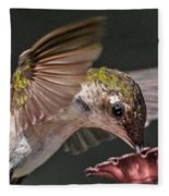 Hummingbird. Fleece Blanket