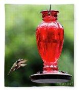 Hummingbird Feeder Fleece Blanket