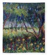 Hummingbird Gardens Fleece Blanket