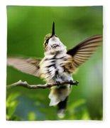 Hummingbird Happy Dance Fleece Blanket
