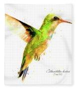 Hummingbird I Fleece Blanket